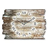 Feder Holz-Design Wanduhr