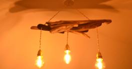 Deckenlampe aus Treibholz