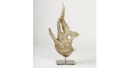 Skulptur aus Treibholz