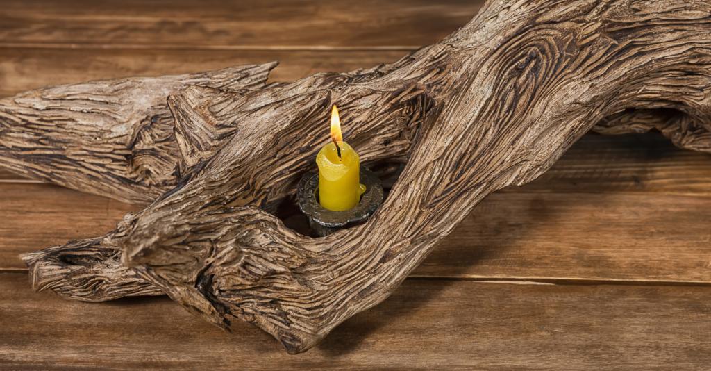 Treibholz Kerzenständer